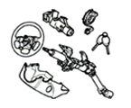 P03 STEERING STEERING COLUMN UPPER