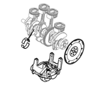 303-11 POWERTRAIN CRANKSHAFT, PISTONS AND FLYWHEEL