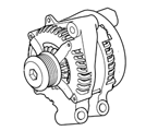 414-02 ELECTRICAL ALTERNATOR AND MOUNTINGS