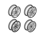 204-04 CHASSIS WHEELS / ORNAMENTATION & CARRIER